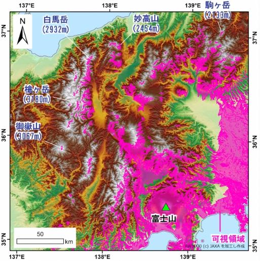 富士山可視領域